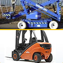 Forklift and lifting platform refueling
